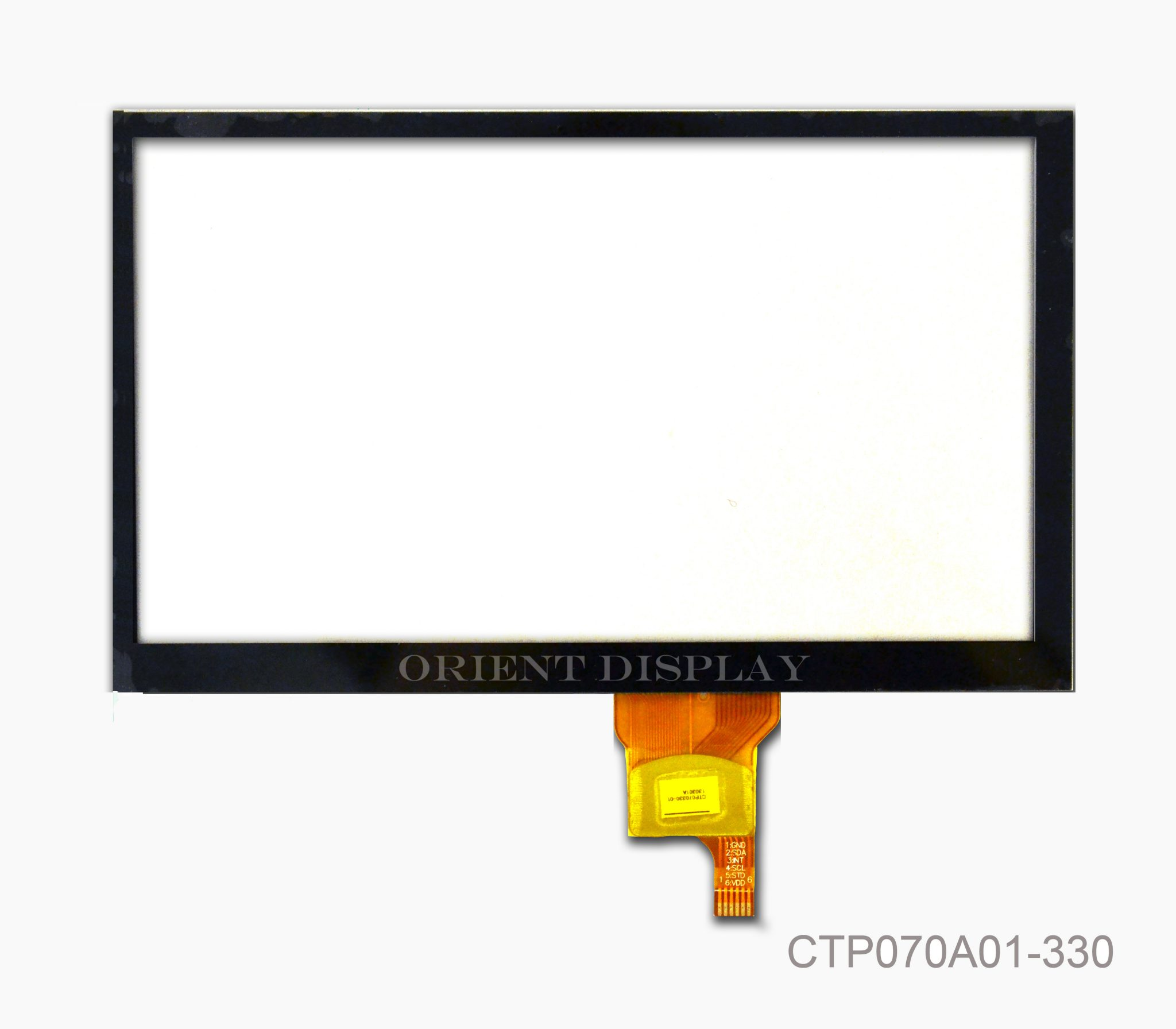Orient Display: Capacitive Touch Panel, Part# CTP070A01-330