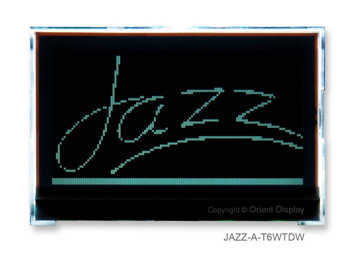 Orient Display Custom LCD: Custom LCD Modules - LCD glass panel, LED Backlight and/or Touch Panel, Graphic LCD JAZZ-A-T6WTDW