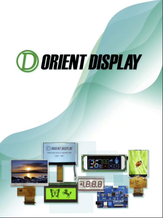 Orient Display brochure & LCD product catalog: TFT, character & Graphic LCD, Glass panel, Evaluate board and more.