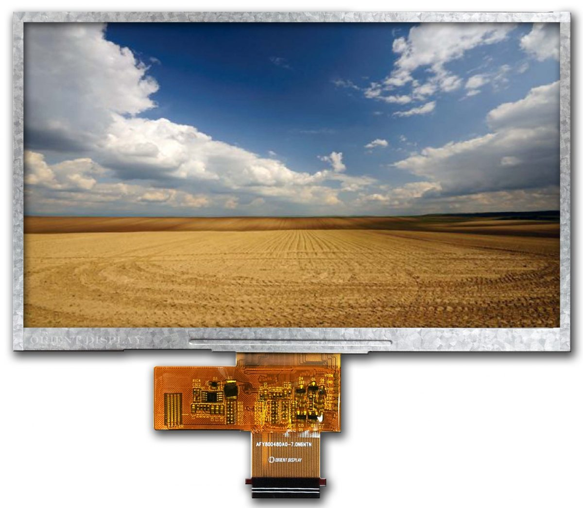 Orient Display: Color TFT/Thin Film Transistor LCD, 7.0 inch 800*480 TFT LCD Display with FPC connection