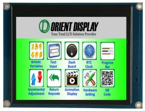 Orient Display: 3.5 inch graphic LCD 320*240 Resistive Touch, embedded system for flexible reliable UI interface development
