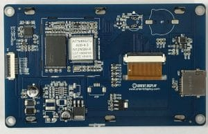 Orient Display: 4.3 inch graphic LCD 480*272 Resistive Touch, embedded system for UI interface develop, backside