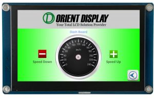 Orient Display: 4.3 inch graphic LCD 480*272 Resistive Touch, embedded system for flexible reliable UI interface development
