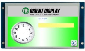 Orient Display: 7.0 inch graphic LCD 800*480 Resistive Touch, embedded system for flexible reliable UI interface development