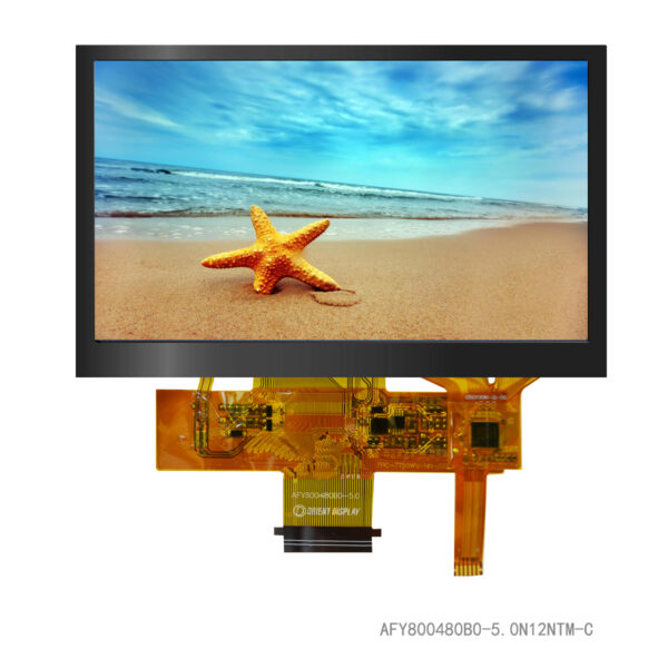 5.0 inch 800480 color TFT LCD display with capacitive touch panel