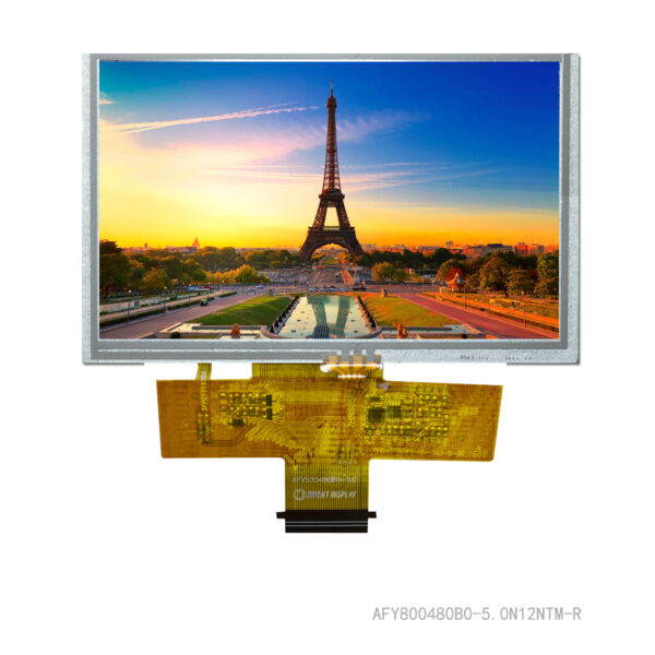 5.0 inch 800480 color TFT LCD display with resistive touch panel