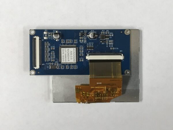 3.5 inch color TFT Embedded LCD Module with Resistive Touch Panel backside