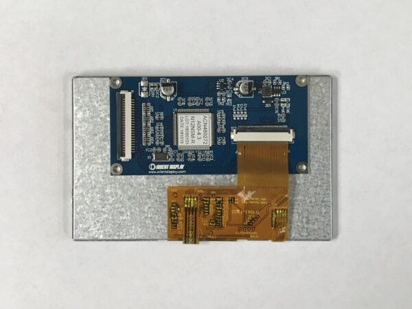 4.3 inch color TFT Embedded LCD Module with Resistive Touch Panel backside
