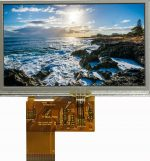 "4.3"" Medium Brightness color TFT LCD Display Resistive touch"