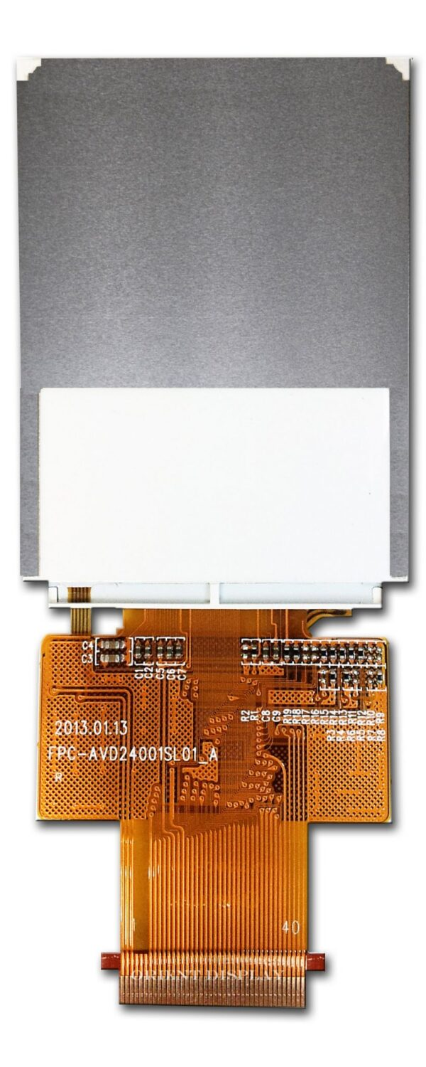 """2.4"""" Color TFT LCD Display Module with Resistive Touch Panel Backside"""
