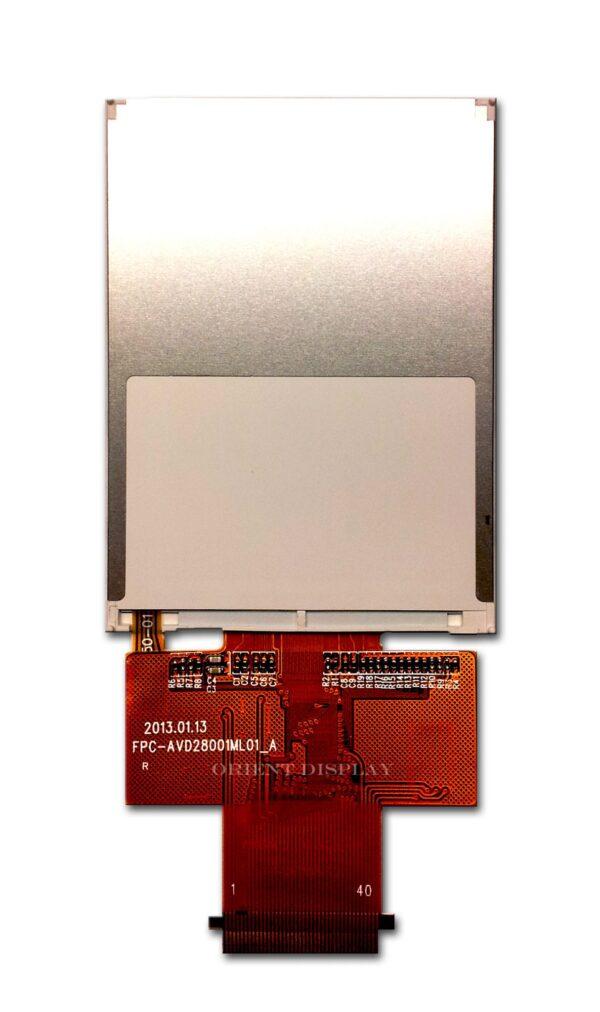 "2.8"" 240*320 color TFT LCD display backside"