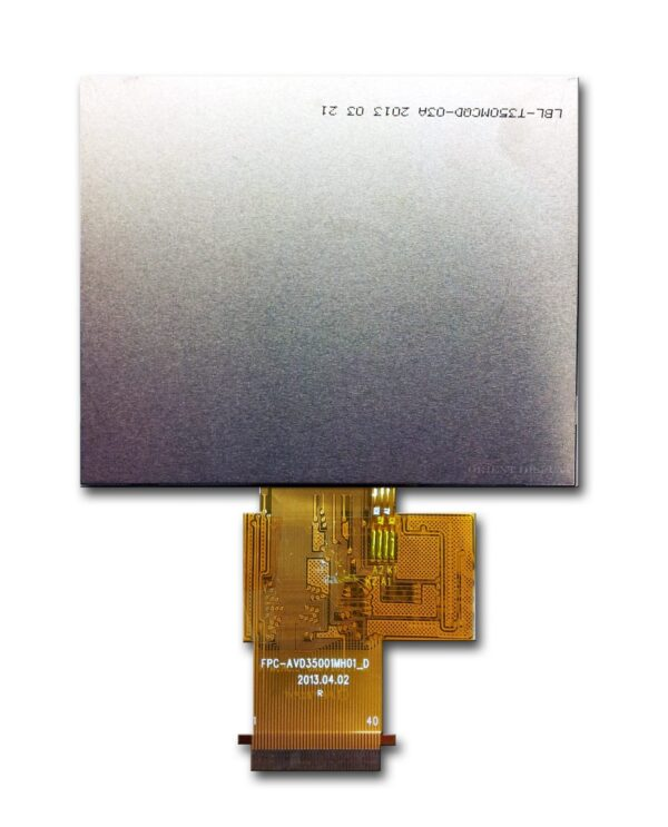 3.5 inch 320240 color TFT LCD Display with Resistive touch panel backside