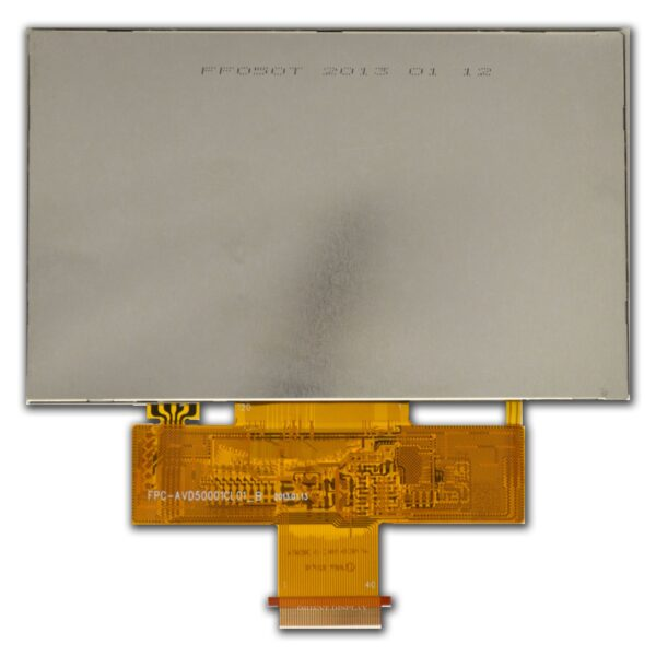 5 inch 800480 color TFT LCD Display with Resistive touch panel backside