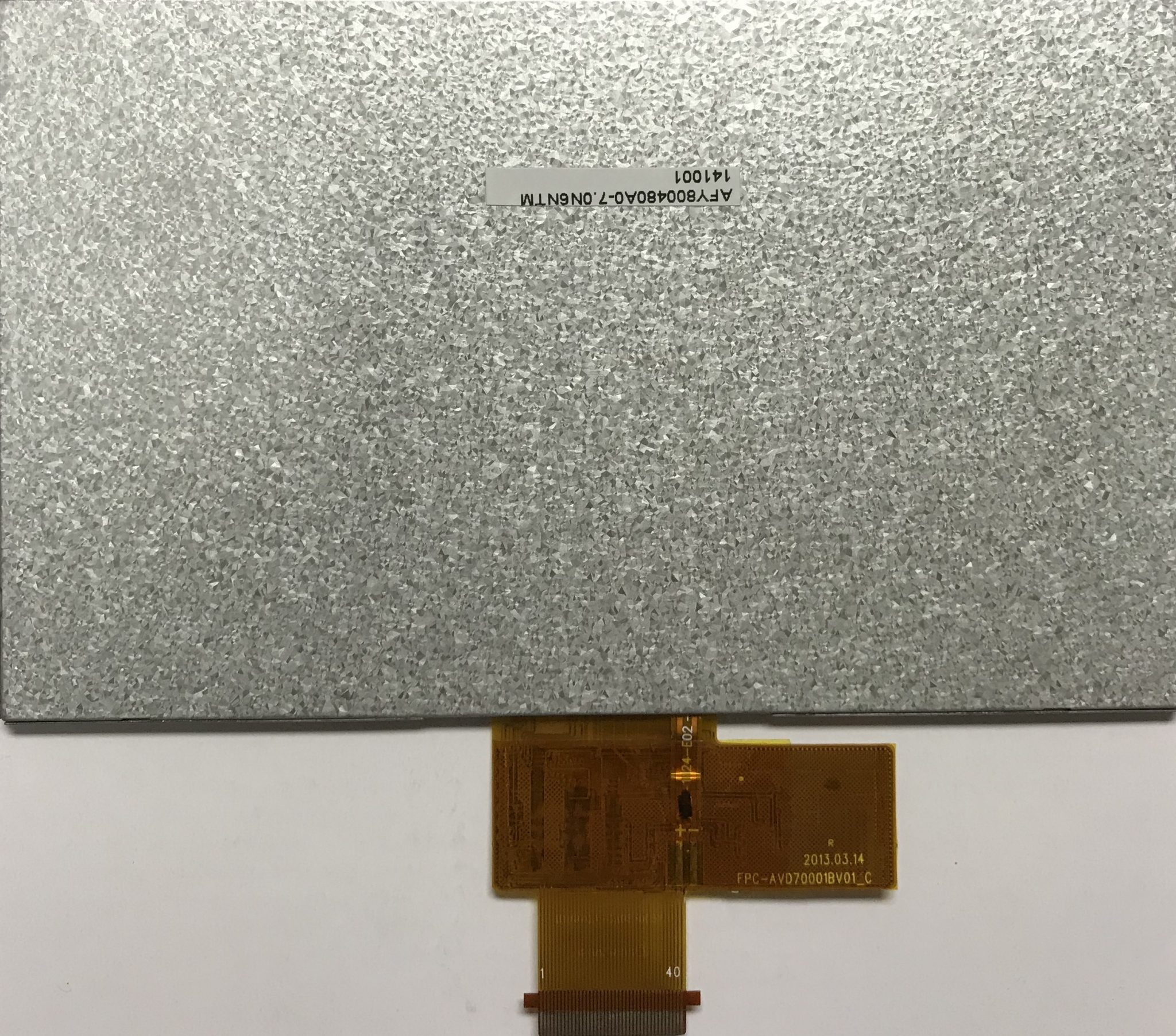 7 inch 800480 color TFT LCD display backside