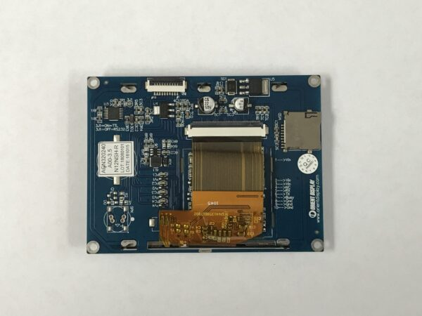3.5 Inch TFT Embedded LCD Display with Resistive Touch Panel backside