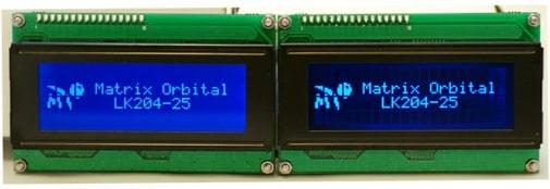 FSTN LCD vs FFSTN LCD Blue Backlight