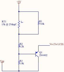 Orient Display: Temperature Compensation - Simple Temperature Compensation Circuit