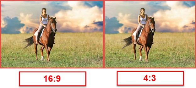 Orient Display: 16:9 vs 4:3 aspect ratio