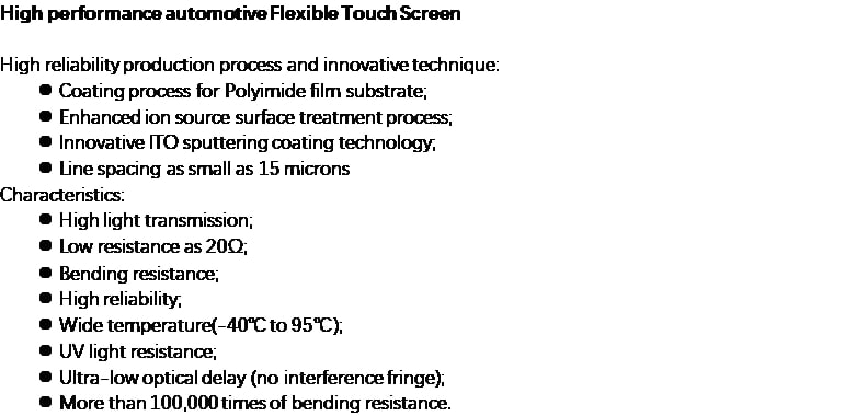 Orient Display: 4th Gen. Curve flexible touch