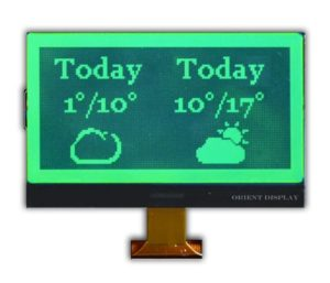 Orient Display: Green Black Bistable LCD