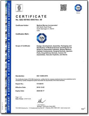 Orient Display: ISO 13485 Certificate