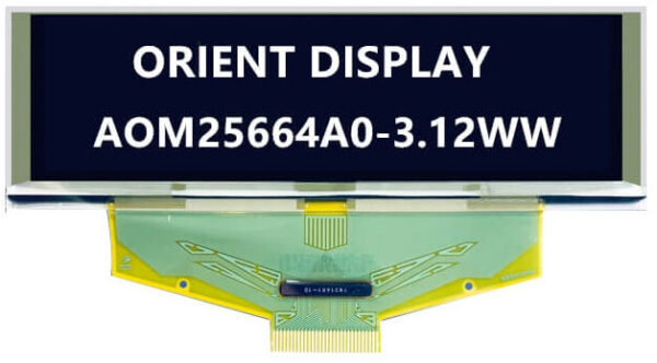3.12'' OLED, 256x64, Monochrome, Parallel/SPI Interface