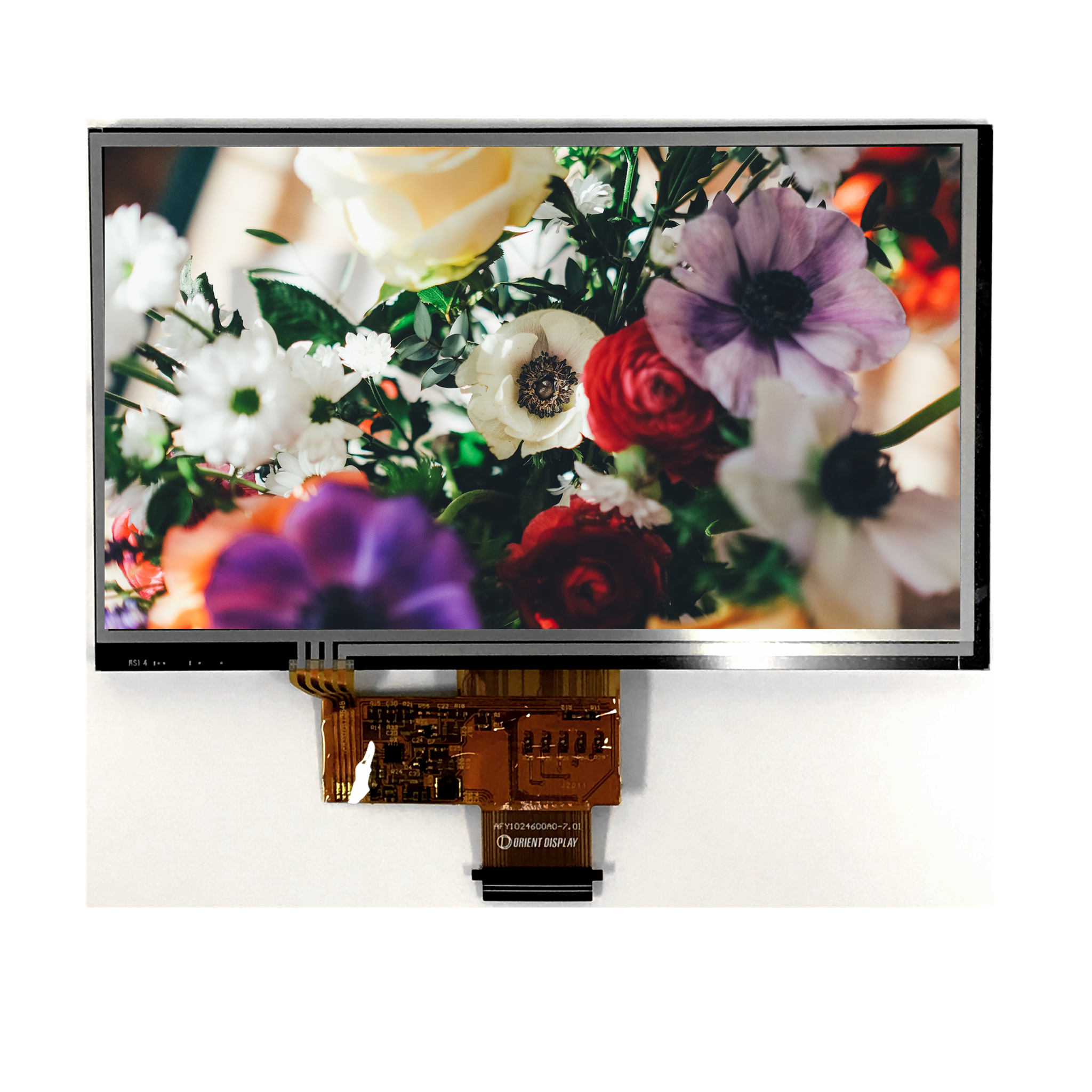 "7.0"" Sunlight Readable IPS, 1024x600, 800 Nits with Resistive Touch Panel"