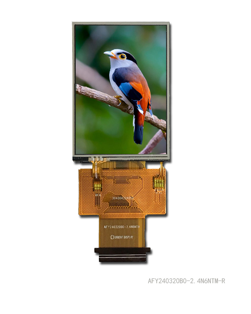"2.4"" TFT, 240x320, 370 Nits with Resistive Touch Panel"