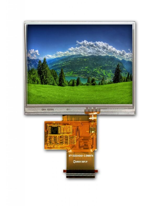 "3.5"" TFT, 320x240, 240 Nits with Resistive Touch Panel"