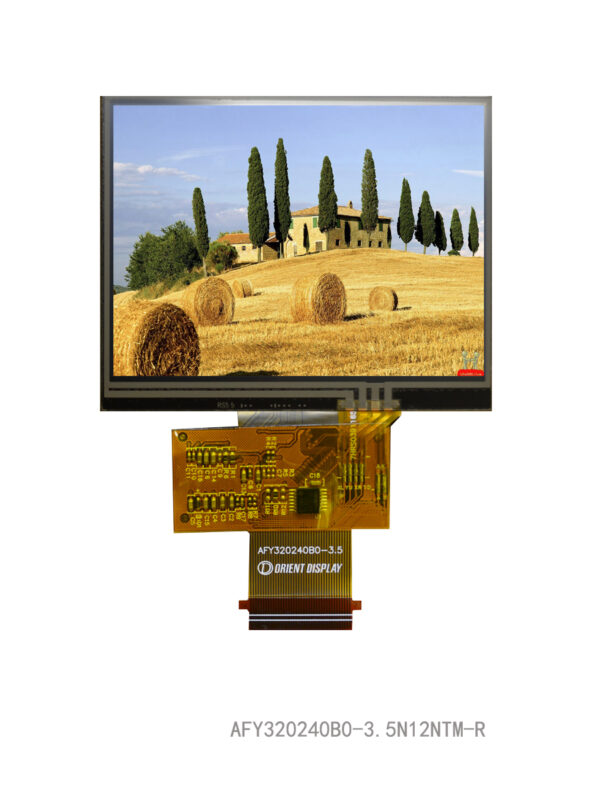 "3.5"" TFT, 320x240, 440 Nits with Resistive Touch Panel"
