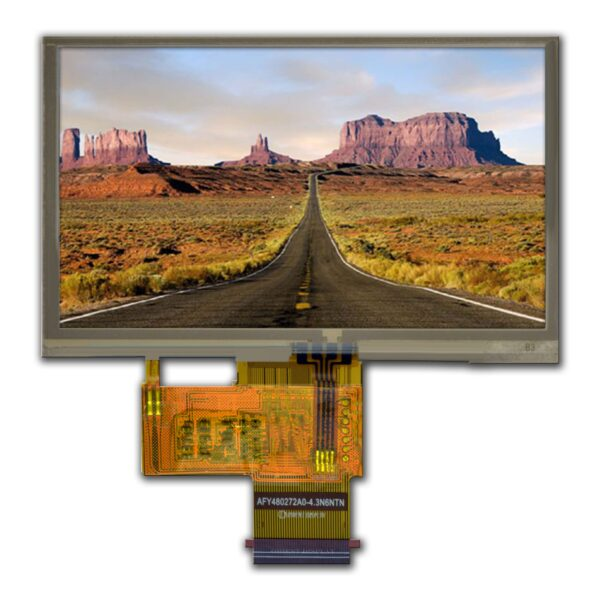 "4.3"" TFT, 480x272, 250 Nits with Resistive Touch Panel"