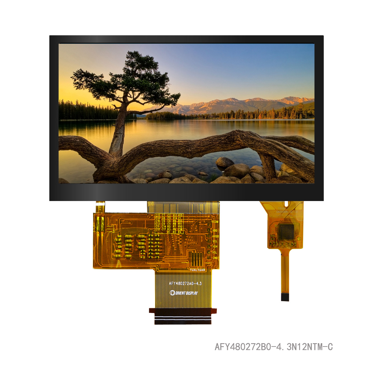 "4.3"" TFT, 480x272, 420 Nits with Capacitive Touch Panel"