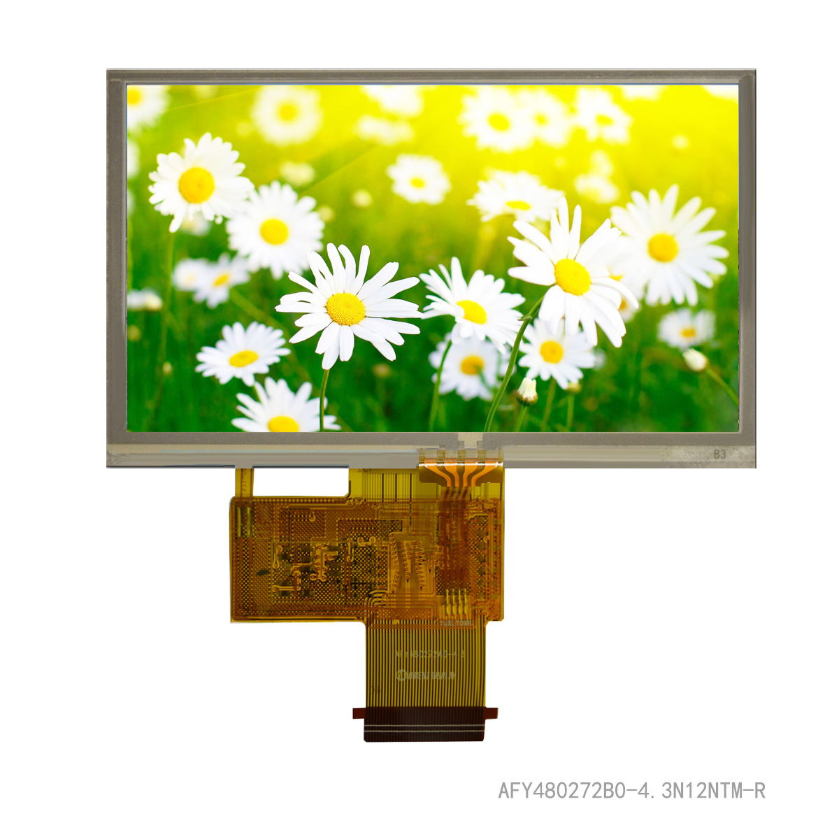"4.3"" TFT, 480x272, 420 Nits, with Resistive Touch Panel"