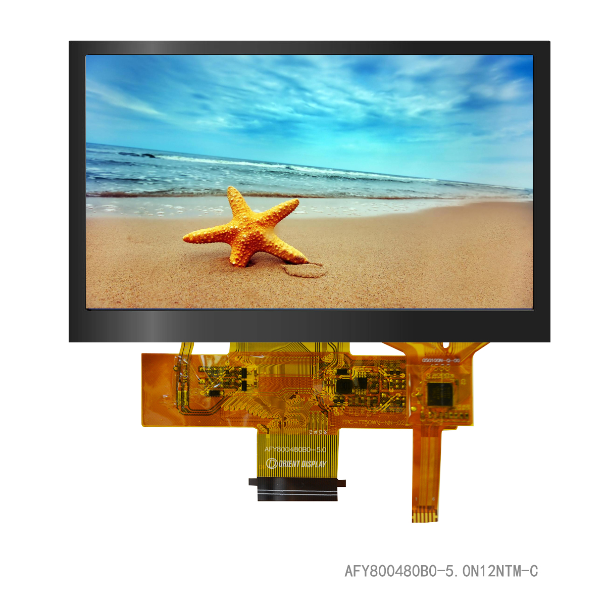 """5.0"""" TFT, 800x480, 427 Nits, with Capacitive Touch Panel"""