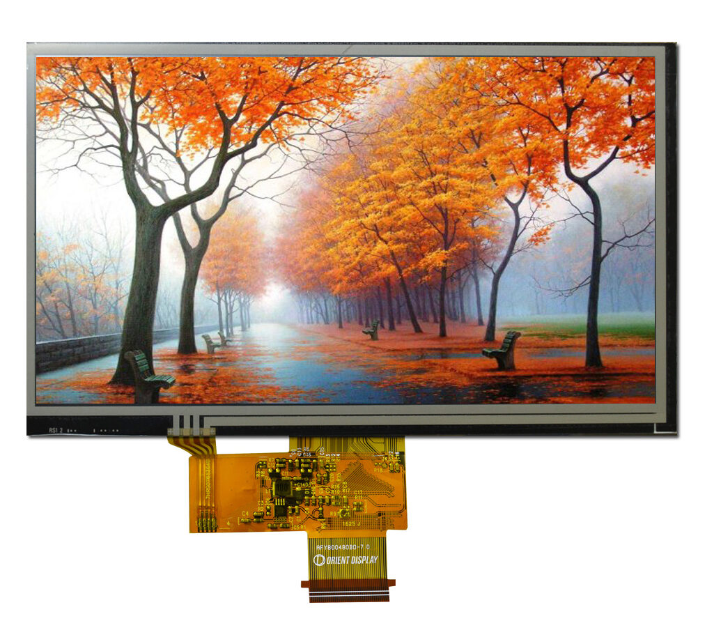 "7.0"" TFT, 800x480, 500 Nits with Resistive Touch Panel"