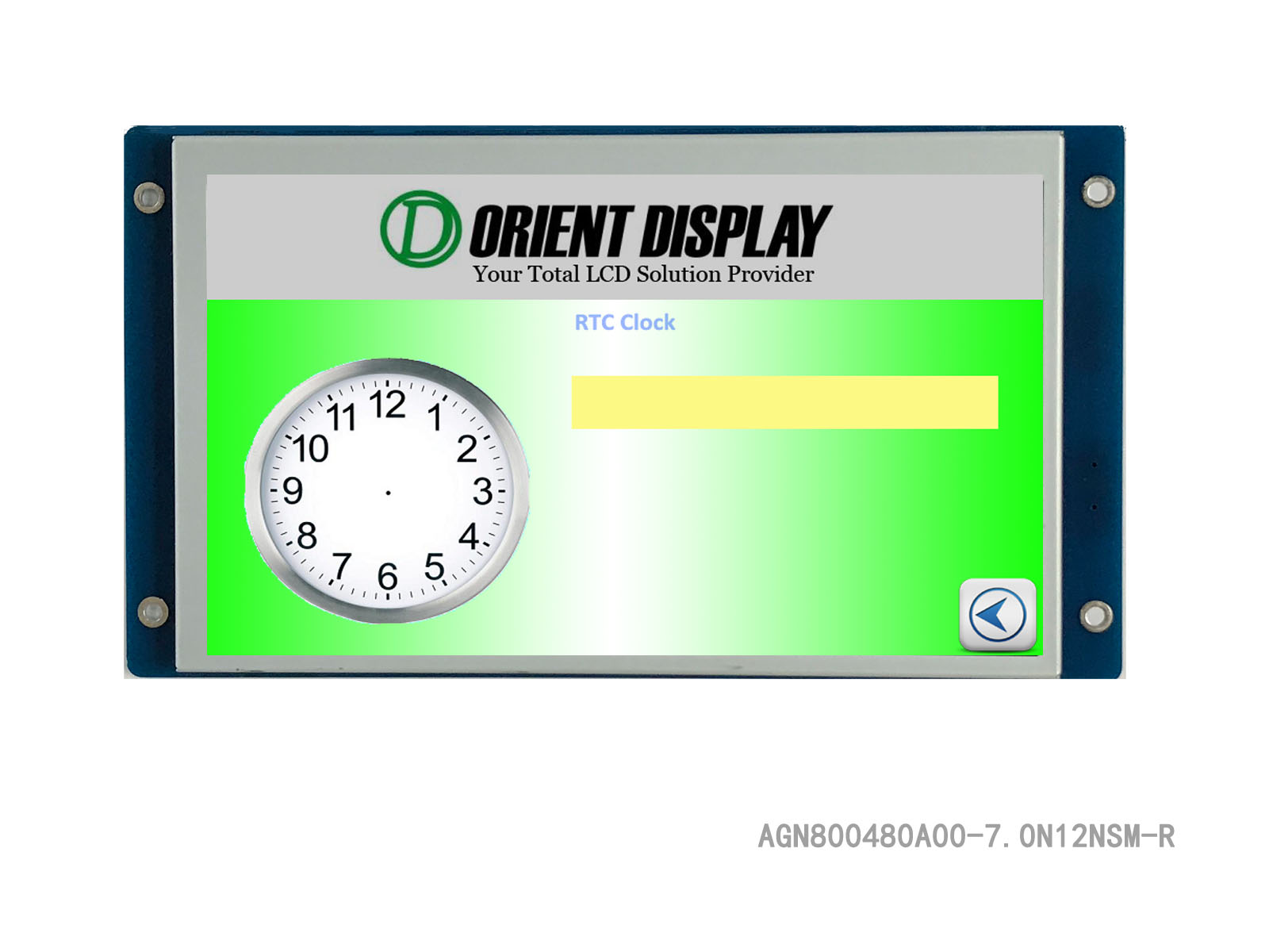 """AGN800480A00-7.0N12NSM-R (7"""" Full-Graphic Display with Resistive TP)"""