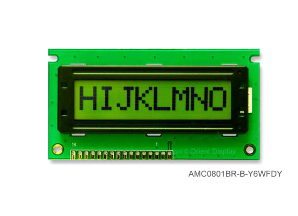 AMC0801BR-B-Y6WFDY (8x1 Character LCD Module)