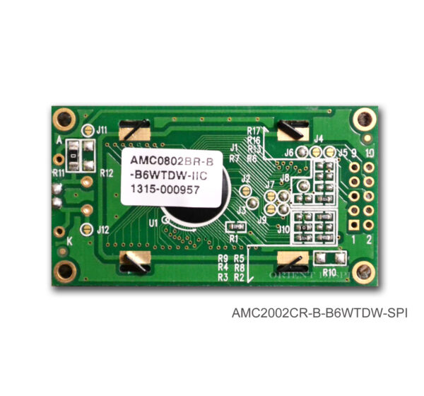 AMC0802BR-B-B6WTDW-I2C (8x2 Character LCD Module - I2C Interface)
