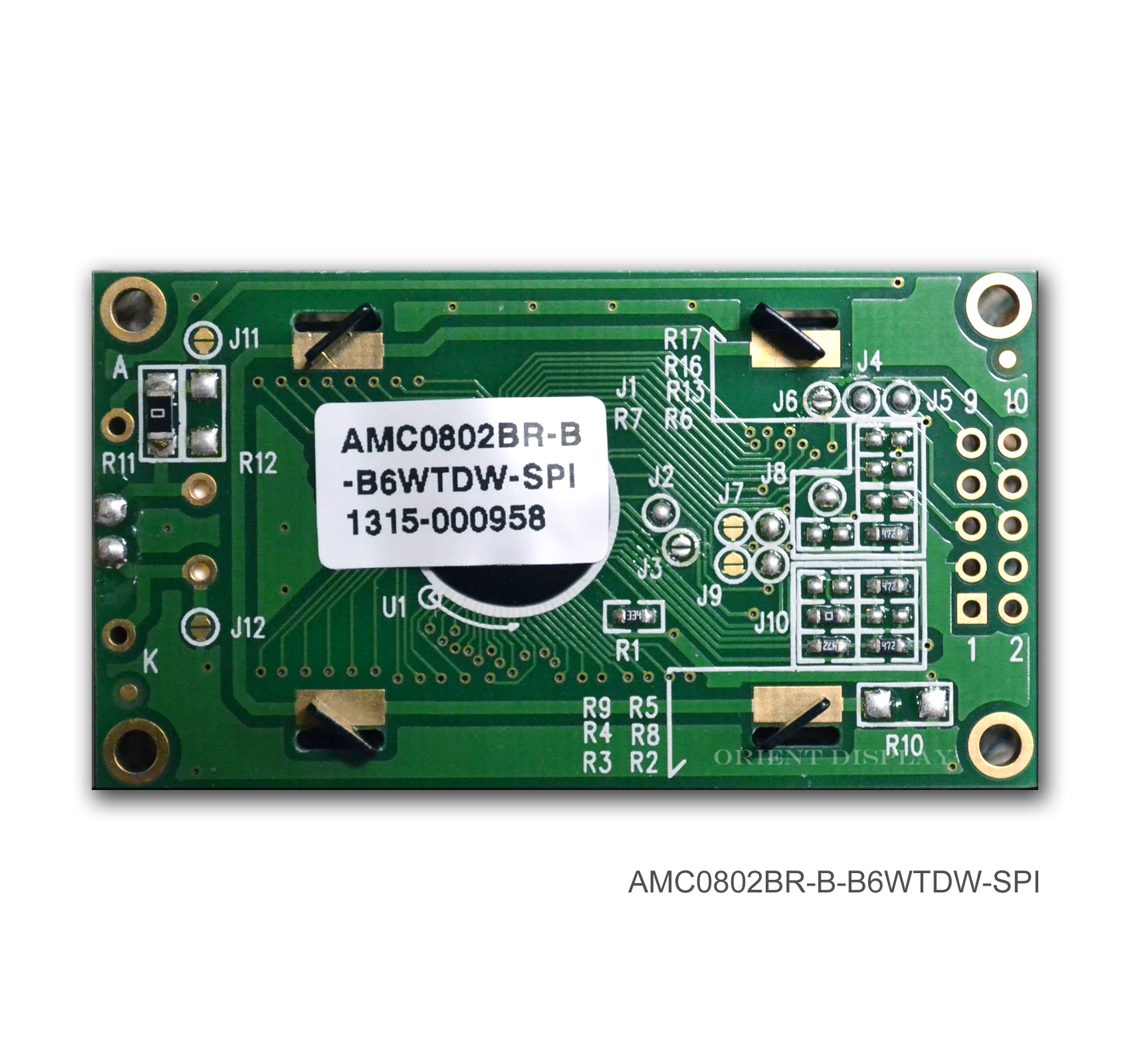AMC0802BR-B-B6WTDW-SPI (8x2 Character LCD Module - SPI Interface)