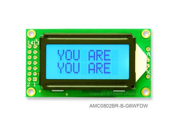 AMC0802BR-B-G6WFDW (8x2 Character LCD Module)