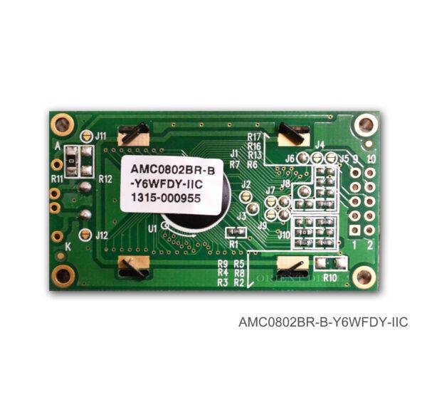 AMC0802BR-B-Y6WFDY-I2C (8x2 Character LCD Module - I2C Interface)