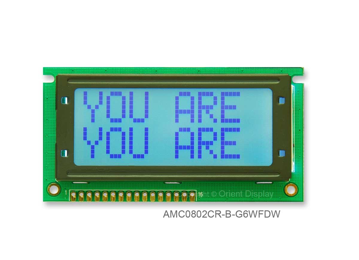 AMC0802CR-B-G6WFDW (8x2 Character LCD Module)