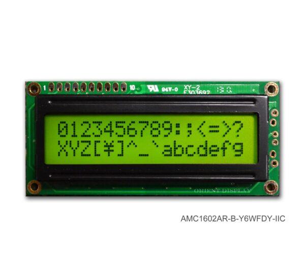 AMC1602AR-B-Y6WFDY-I2C (16x2 Character LCD Module - I2C Interface)
