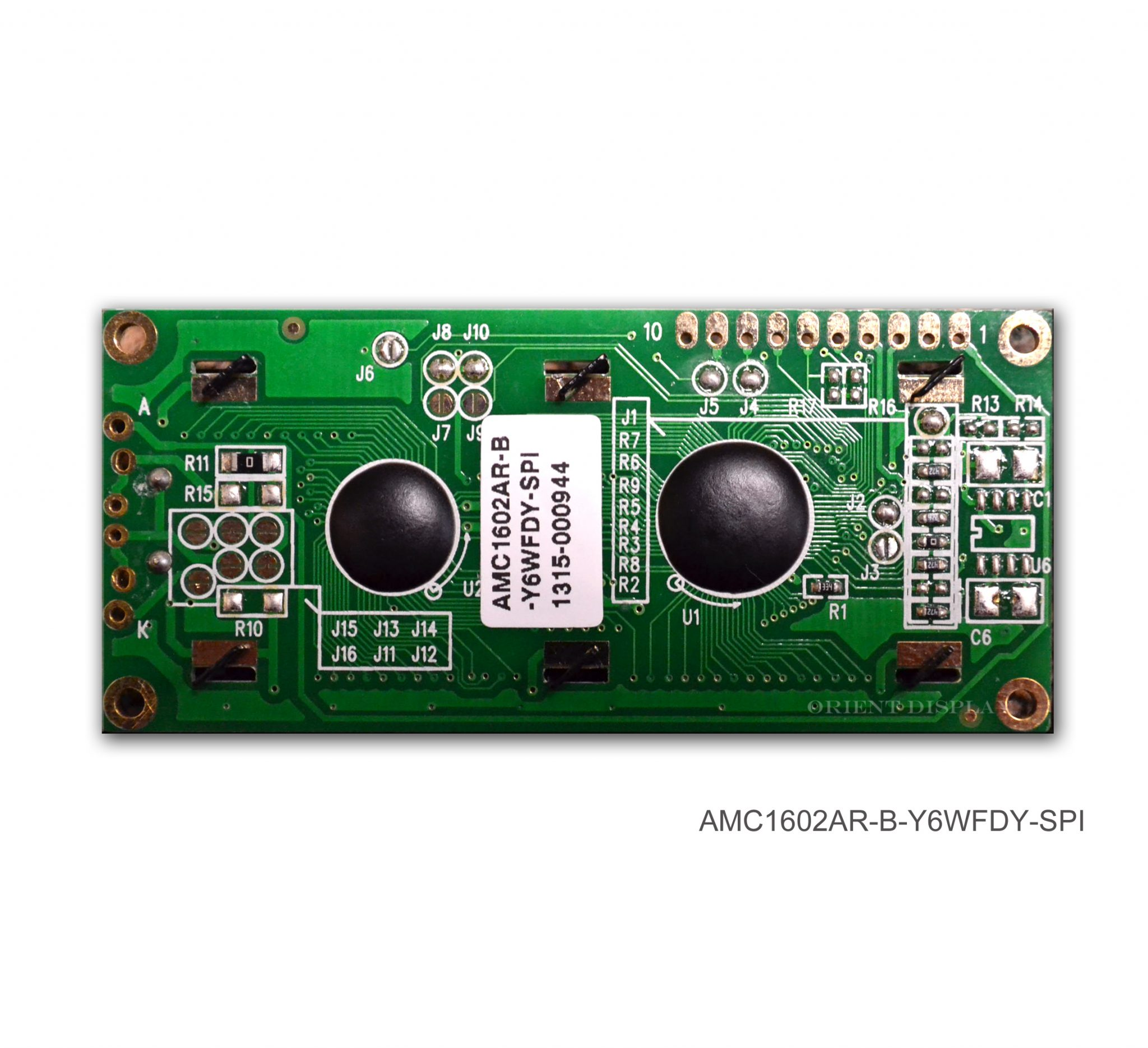 AMC1602AR-B-Y6WFDY-SPI (16x2 Character LCD Module - SPI Interface)