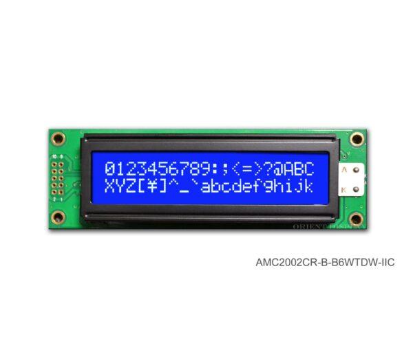 AMC2002CR-B-B6WTDW-I2C (20x2 Character LCD Module - I2C Interface)