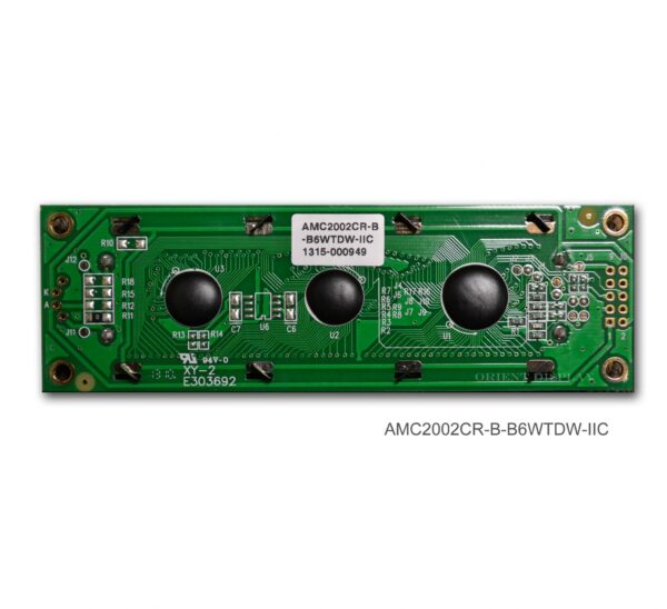 AMC2002CR-B-B6WTDW-I2C (20x2 Character LCD Module - I2C Interface)