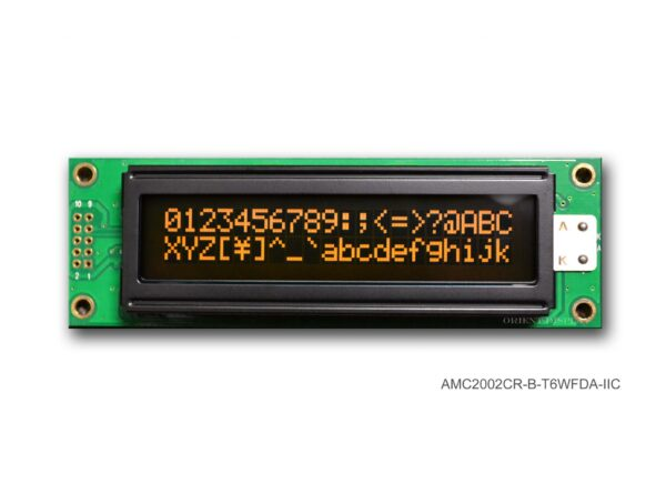 AMC2002CR-B-T6WFDA-I2C (20x2 Character LCD Module - I2C Interface)