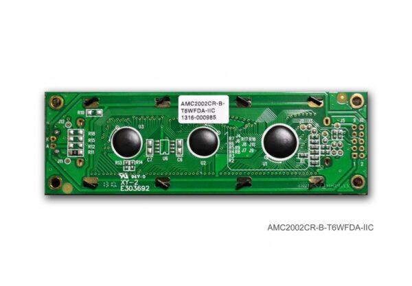 AMC2002CR-B-T6WFDA-I2C (20x2 Character LCD Module - I2C Interface)