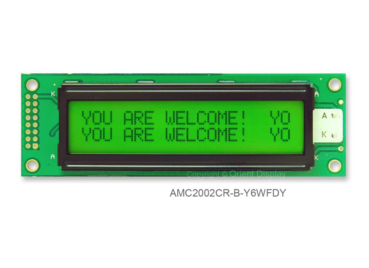AMC2002CR-B-Y6WFDY (20x2 Character LCD Module)