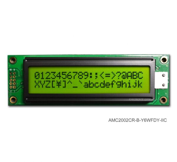 AMC2002CR-B-Y6WFDY-I2C (20x2 Character LCD Module - I2C Interface)